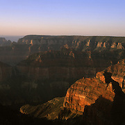Mt. Hayden from Point Imperial on the North Rim in Grand Canyon National Park, AZ.