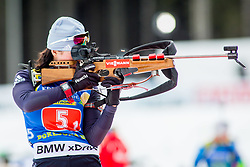 Anastassiya Kondratyeva (KAZ) during Single Mixed Relay at day 1 of IBU Biathlon World Cup 2018/19 Pokljuka, on December 2, 2018 in Rudno polje, Pokljuka, Pokljuka, Slovenia. Photo by Ziga Zupan / Sportida