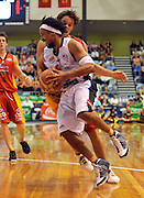 CJ Bruton (NZ)<br /> New Zealand Breakers vs Melbourne Tigers<br /> Basketball- NBL Semi Finals Game 1<br /> Melbourne / Weds 25 Feb 2009<br /> © Sport the library / Jeff Crow