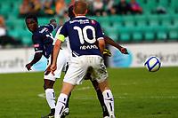 Fotball <br /> 9. mai 2011 <br /> Eliteserien <br /> 6. runde Tippeligaen 2011 <br /> Sogndal - Viking<br /> Fosshaugane Campus - Sogndal <br /> Foto: Rune Sjøberg, Digitalsport <br /> <br /> King Osei Gyan, Viking