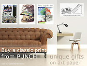 Buy Cartoon Prints from PUNCH. Unique gifts on art paper.