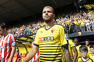 Valon Behrami of Watford walking out to the pitch from the tunnel before k/o. Barclays Premier League, Watford v Southampton at Vicarage Road in London on Sunday 23rd August 2015.<br /> pic by John Patrick Fletcher, Andrew Orchard sports photography.