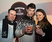 Aaron Nepgen, Reuben Nepgen and Merli Hallik Galway.com at The Jameson The Black Barrel Craft Series  at Old printing works, Market Street with music by Corner boy.  Photo:Andrew Downes