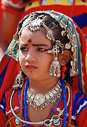 Young girl wearing traditional Indian dress