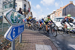 The race is on - Le Samyn des Dames 2016, a 113km road race from Quaregnon to Dour, on March 2, 2016 in Hainaut, Belgium.