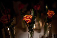 Flowers on the tables at the 37th International Emmy Awards Gala in New York on Monday, November 23, 2009.  ***EXCLUSIVE***