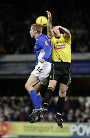 Fotball<br /> Championship 2004/05<br /> Ipswich v Watford<br /> 22. febuar 2005<br /> Foto: Digitalsport<br /> NORWAY ONLY<br /> James Scowcroft and Neil Cox