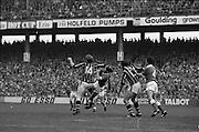 05/09/1982<br /> 09/05/1982<br /> 5 September 1982<br /> All-Ireland Hurling Final: Cork v Kilkenny at Croke Park, Dublin. <br /> The ball slips past Cork goalie, Ger Cunningham, to register Kilkenny's second goal from Christy Heffernan.