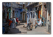 Street in Chanoud, Rajasthan, India. Nikon D850, 70-200mm @ 200mm, f22, 1/250sec, ISO640, Aperture priority.