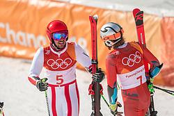 18-02-2018 KOR: Olympic Games day 9, Pyeongchang<br /> Alpine Skiing Men's Giant Slalom at Yongpyong Alpine Centre / Marcel Hirscher of Austria pakt de gouden medaille