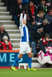 Brighton & Hove Albion'€™s Anthony Knockaert celebrates scoring his side's first goal of the game