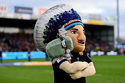 Exeter Chiefs Big Chiefs prior to kick off - Mandatory by-line: Ryan Hiscott/JMP - 29/12/2019 - RUGBY - Sandy Park - Exeter, England - Exeter Chiefs v Saracens - Gallagher Premiership Rugby