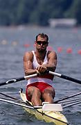 Atlanta, USA.  CAN M1X, Silver medalist Derek PORTER. 1996 Olympic Rowing Regatta Lake Lanier, Georgia [Mandatory Credit Peter Spurrier/ Intersport Images]