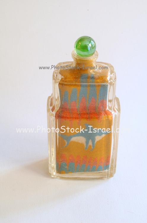 colour sand art work
