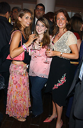 Left to right, MARINA ARPINO, HELAINE GORDON and CHLOE GREEN at a party to celebrate the opening in London of Delhi's finest Indian restaurant Moti Mahal at 45 Great Queen Street, London WC2 on 27th July 2005.<br /><br />NON EXCLUSIVE - WORLD RIGHTS