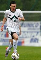 Fotball<br /> Slovenia v FC Südtirol<br /> Bruneck Italia<br /> 29.05.2010<br /> Foto: Gepa/Digitalsport<br /> NORWAY ONLY<br /> <br /> FIFA Weltmeisterschaft 2010 in Suedafrika, Vorberichte, Vorbereitung, Vorbereitungsspiel, Freundschaftsspiel, Sowenien vs FC Suedtirol. <br /> <br /> Bild zeigt Robert Koren (SLO)
