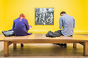 Group Portrait 1070  by Cornel Brudascu - The EY Exhibition: The World Goes Pop, opens at the Tate Modern. The exhibition covers the full breadth of international Pop Art from the 1960s and 70s, 'exploding' the traditional story of Pop. The show features 'colourful and exciting' works from Latin America, Asia, Europe and the Middle East – the majority of which have never before been shown in the UK. Highlights include: Japanese pop artist Tajiri's striking large scale sculpture Machine No.7, surrounded by works by artists Ushio Shinohara, Erro, Equipo Cronica and Evelyne Axel; a mirrored full room installation specially recreated for this exhibition by Polish pop artist Jana Zelibska; and Henri Cueco's multi-layered sculptural work Large Protest 1969 seen in front of his painting The Red Men, bas-relief 1969, exploring the Cold War, Vietnam War and May 1968 protests in Paris. The Exhibition is at Tate Modern from 7 September 2015 - 24 January 2015.