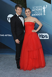 Stephen Moyer and Anna Paquin at the 26th Annual Screen Actors Guild Awards held at the Shrine Auditorium in Los Angeles, USA on January 19, 2020.