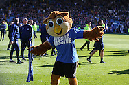 Sheffield Wednesday mascot during the Sky Bet Championship match between Sheffield Wednesday and Cardiff City at Hillsborough, Sheffield, England on 30 April 2016. Photo by Phil Duncan.