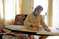 Working On Surfboard