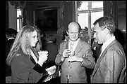 NATASHA GRENFELL; AUBERON WAUGH; TAKI, <br /> High Life Low Life party. St. James, London. 1981. <br /> <br /> SUPPLIED FOR ONE-TIME USE ONLY> DO NOT ARCHIVE. © Copyright Photograph by Dafydd Jones 248 Clapham Rd.  London SW90PZ Tel 020 7820 0771 www.dafjones.com