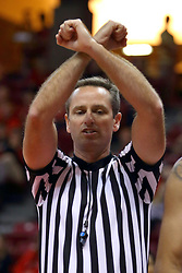 26 November 2016:  Jeb Hartness calls an intentional foul during an NCAA  mens basketball game between the Ferris State Bulldogs the Illinois State Redbirds in a non-conference game at Redbird Arena, Normal IL