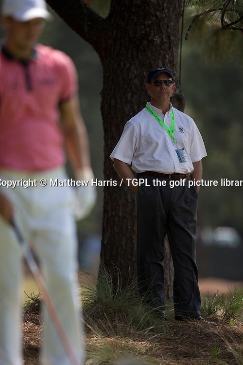 Mike Davis USGA executive Director watches Martin KAYMER (GER) at 2nd tee  during third round US Open Championship 2014,Pinehurst No 2,Pinehurst,North Carolina,USA.