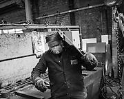 Ghent, Belgium, 6 may 2011, Worker at Huizen Ketels, ship repair.