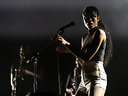 American singer-songwriter Adia Victoria supporting The National at Jahrhunderthalle in Frankfurt