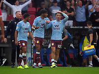 Football - 2019 / 2020 Premier League - Crystal Palace vs. Aston Villa<br /> <br /> A distraught  Jack Grealish of Villa after his goal was disallowed, with Tyrone Mings at Selhurst Park.<br /> <br /> COLORSPORT/ANDREW COWIE