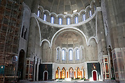 Interior of the Church of Saint Sava, Belgrade, Serbia.