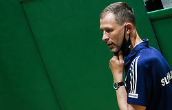 Slavko Duscak, assistant coach of Slovenia during friendly basketball match between Women National Teams of Slovenia and Montenegro, on May 21, 2021 in Arena Tri Lilije, Lasko, Slovenia. Photo by Vid Ponikvar / Sportida
