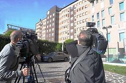 May 2, 2019 - Milan - Journalists waiting in front of the San Raffaele hospital, where Silvio Berlusconi is hospitalized (Maurizio Maule/Fotogramma, Milan - 2019-04-30) p.s. la foto e' utilizzabile nel rispetto del contesto in cui e' stata scattata, e senza intento diffamatorio del decoro delle persone rappresentate (Credit Image: © Maurizio Maule/IPA via ZUMA Press)