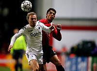 Fotball , 1. november 2006 , Champions League , København - Manchester United 0-1 <br /> Copenhagen - Manchester United<br /> Christiano Ronaldo , Man U. og Lars Jacobsen , FCK