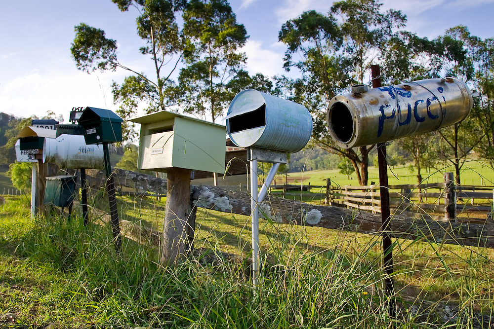Post-boxes, Wobbly Creek, Australia RESERVED USE - NOT FOR DOWNLOAD -  FOR USE CONTACT TIM GRAHAM