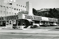 1973 Tower Records on Sunset Blvd. at Horn St.