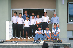 Kazuyoshi Omuta, J. Nichols With Teacher & Students Learning About Nesting Sea Turtles