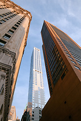 skyscrapers in downtown New York City