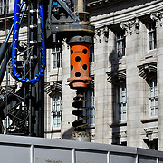 Construction workers ,drills CRANE , Admiralty Arch