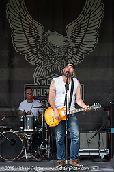 """""""The Brave Ones"""" from Los Angeles on the Harley main stage during the 75th Annual Sturgis Black Hills Motorcycle Rally.  SD, USA.  August 7, 2015.  Photography ©2015 Michael Lichter."""