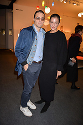 Mihda Koray and Paolo Chiasera at the 2017 PAD Collector's Preview, Berkeley Square, London, England. 02 October 2017.