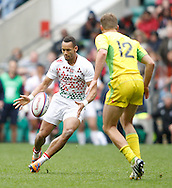 Photo by Andrew Tobin/Tobinators Ltd. Dan Norton of England in action from the IRB London Rugby 7s tournament held at Twickenham Stadium, London on 12th May 2013. New Zealand won the tournament beating Australia in the final, and also won the overall 2012/13 series.