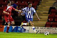 Euan Holden. Kidderminster Harriers FC 1-1 Stockport County. Blue Square Bet Premier. 23.8.11