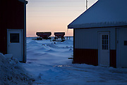 ELDORADO, WI – FEBRUARY 2: Vision Aire Farms just after sunset on February 2, 2017.