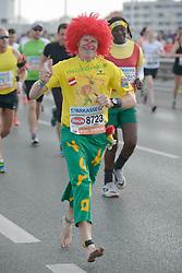 12.04.2015, Wien, AUT, Vienna City Marathon 2015, im Bild Läufer im Pumucl Outfit, Feature // during Vienna City Marathon 2015, Vienna, Austria on 2015/04/12. EXPA Pictures © 2015, PhotoCredit: EXPA/ Gerald Dvorak