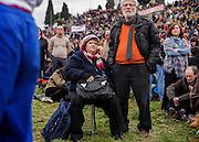 Family Day al Circo Massimo contro il ddl Cirinna' che prevede il riconoscimento delle unioni civili anche per le coppie omosessuali. Roma 30 gennaio 2016. Chrstian Mantuano / OneShot<br /> Thousands of demonstrators take part in the Family Day rally at the Circo Massimo in central Rome, on January 30, 2016. Christian Mantuano / OneShot