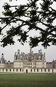 FRA_064_xs.Chateau at Chambord, France, in the Loire Valley..
