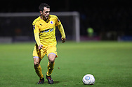 Chester midfielder Craig Mahon (7) assess his options during the Vanarama National League match between York City and Chester FC at Bootham Crescent, York, England on 13 November 2018.