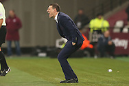 Slaven Bilic, the West Ham United manager shouting at this players from the touchline. Premier league match, West Ham Utd v Hull city at the London Stadium, Queen Elizabeth Olympic Park in London on Saturday 17th December 2016.<br /> pic by John Patrick Fletcher, Andrew Orchard sports photography.