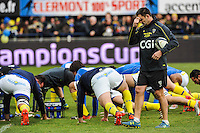 Franck AZEMA - 25.01.2015 -  Clermont / Saracens - European Champions Cup <br />